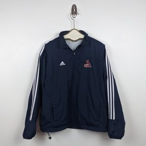 St. Louis Cardinals Navy Adidas Windbreaker - Sz L